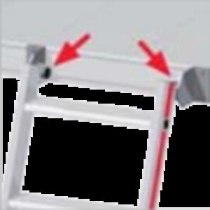 Hakenset voor uitschuifbare ladder