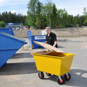 Trolley voor afval - Inhoud 200 l