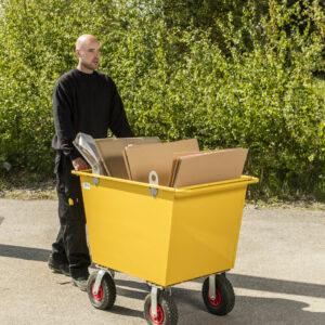 Trolley voor afval - Inhoud 400 l