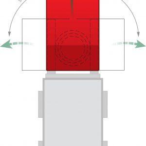Kiepcontainer - Capaciteit 0,30 m³ - met 3-zijdige kiepfunctie