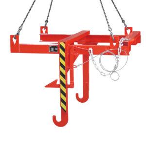 Kieptraverse voor bouwstofcontainers