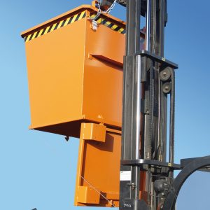 Bodemklepcontainer BKB - Capaciteit 0,50 m³ - in elkaar stapelbaar door de conische bouwvorm