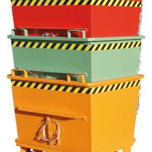 Bodemklepcontainer BKB - Capaciteit 0,70 m³ - in elkaar stapelbaar door de conische bouwvorm