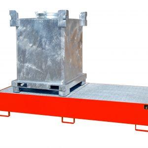 Opvangbak - 2 X 1000 l IBC voor gevaarlijke vloeistoffen