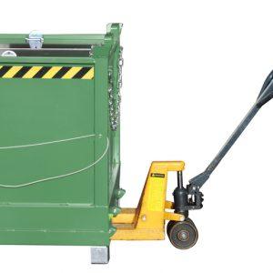 Bodemklepcontainer FB - Capaciteit 1,50 m³ - de goedkopere versie en een ideale oplossing voor de inzameling van recycleerbare stoffen
