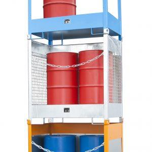 Stapelpallet voor vaten - 2 X 200 l vaten