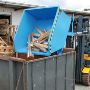 Kiepcontainer met lage bouwhoogte - Cap 0,30 m³