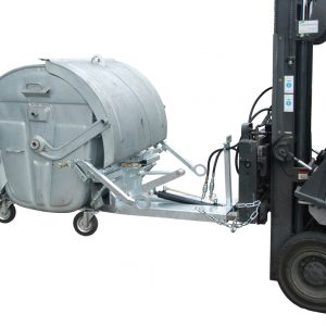 Transport en leegkiepen van rolcontainers