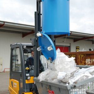 Bodemklepcontainer RB - Capaciteit 0,30 m³ - Ronde bodemklepcontainer
