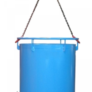Bodemklepcontainer RB - Capaciteit 0,45 m³ - Ronde bodemklepcontainer