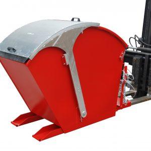 Kiepcontainer met rond deksel - Cap: 0,75 m³