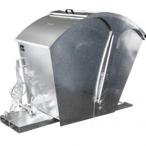 Kiepcontainer met rond deksel - Capaciteit 1,00 m³