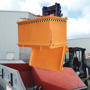Bodemklepcontainer SB - Capaciteit 0,50 m³ - meest populaire stapelbare onderlosser.