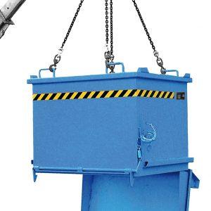 Bodemklepcontainer SB - Capaciteit 0,75 m³ - meest populaire stapelbare onderlosser.