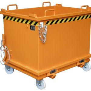 Bodemklepcontainer SB - Capaciteit 1,00 m³ - meest populaire stapelbare onderlosser.