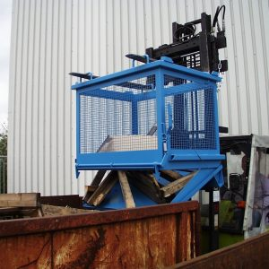 Gaascontainer met bodemklep SB-G - Capaciteit 1,00 m³ - voor lichte goederen