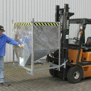 Silocontainer - 0,50 m³ - met de hand te ontgrendelen sluiting vooraan