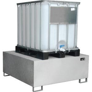 Opvangbak RVS - 1 X 1000 l IBC