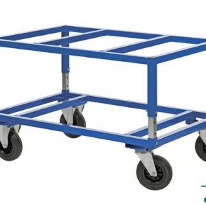 Onderwagen voor pallets - In hoogte verstelbare versie - 1200 x 1000 mm