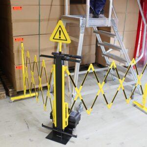 Uittrekbare barrière met handige trolley