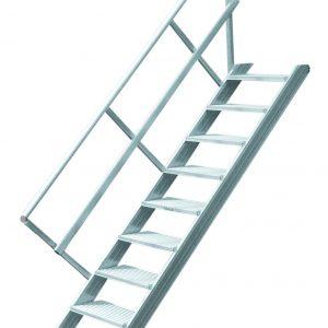 Vaste trap zonder platform - 45°