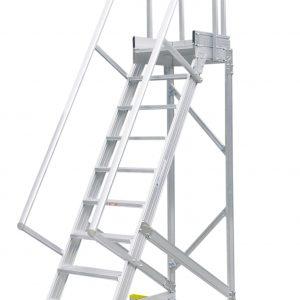 Mobiele trap met platform - 60°