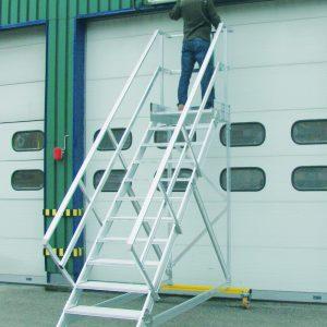 Mobiele trap met platform - 45°
