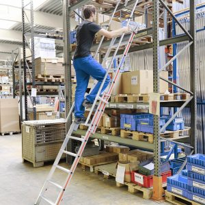 Inhaakbare en uitschuifbare 2-delige ladder - 2 x 8 treden
