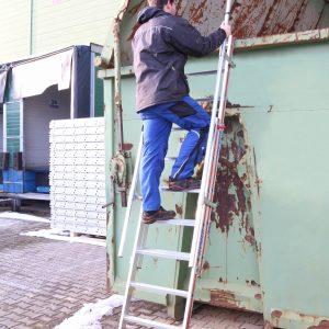 Inhaakbare en uitschuifbare 2-delige ladder - 2 x 9 treden