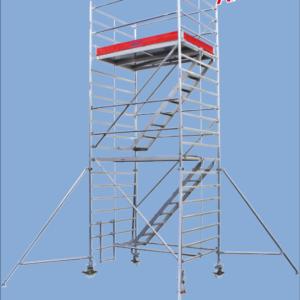 Rolsteiger met trappen - platformhoogte: 4500 mm