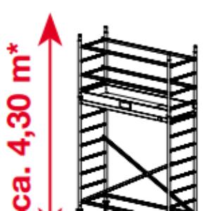 Mobiele rolsteiger ProTec - platformhoogte: 2300 mm