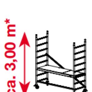 Mobiele rolsteiger ProTec - platformhoogte: 900 mm