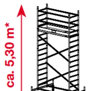 Mobiele rolsteiger ProTec - platformhoogte: 3300 mm