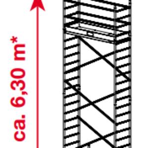 Mobiele rolsteiger ProTec - platformhoogte: 4300 mm