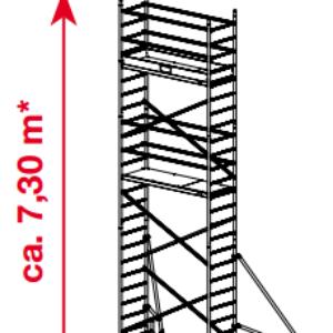 Mobiele rolsteiger ProTec - platformhoogte: 5300 mm
