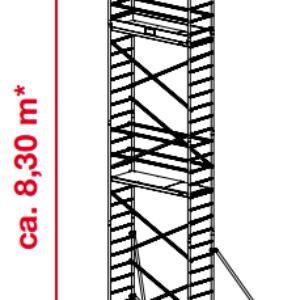 Mobiele rolsteiger ProTec - platformhoogte: 6300 mm