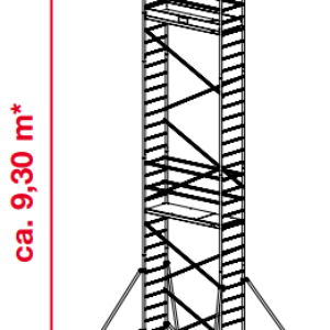 Mobiele rolsteiger ProTec - platformhoogte: 7300 mm