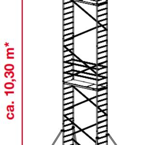 Mobiele rolsteiger ProTec - platformhoogte: 8300 mm