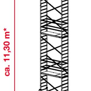 Mobiele rolsteiger ProTec - platformhoogte: 9300 mm