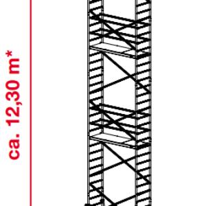 Mobiele rolsteiger ProTec - platformhoogte: 10300 mm