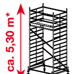 Mobiele rolsteiger ProTec XXL - platformhoogte: 3300 mm