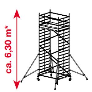 Mobiele rolsteiger ProTec XXL - platformhoogte: 4300 mm