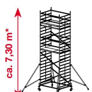 Mobiele rolsteiger ProTec XXL - platformhoogte: 5300 mm
