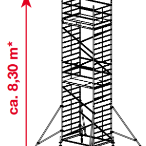 Mobiele rolsteiger ProTec XXL - platformhoogte: 6300 mm