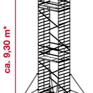 Mobiele rolsteiger ProTec XXL - platformhoogte: 7300 mm