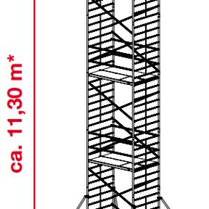 Mobiele rolsteiger ProTec XXL - platformhoogte: 9300 mm
