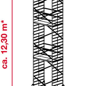 Mobiele rolsteiger ProTec XXL - platformhoogte: 10300 mm