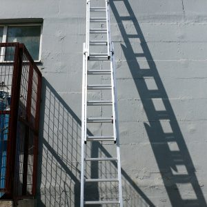 Ladder driedelig aluminium