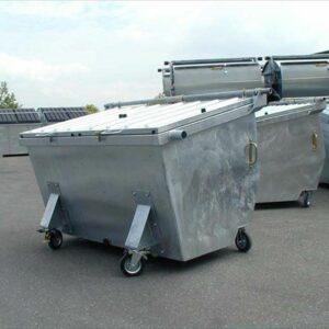 Gegalvaniseerde stalen afvalcontainer 2500 l