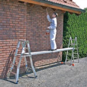 Praktische extra lange schuifplank voor werken op hoogte